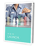 Building in a hand businessmen Presentation Folder