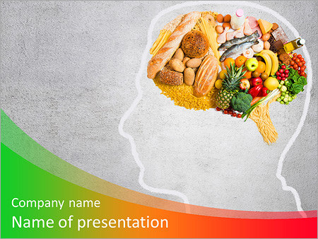 food for thought powerpoint template & backgrounds id 0000009166, Modern powerpoint