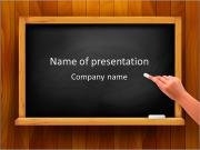 Hand writing on a blackboard. Vector illustration. Stock Vector Illustration: PowerPoint Template