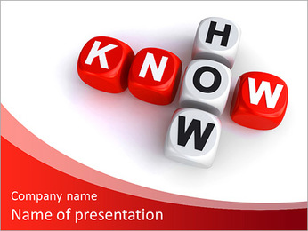 Know how crossword concept PowerPoint Template