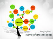 Website development tree PowerPoint Templates
