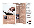 High resolution hand touching touch pad Brochure Template