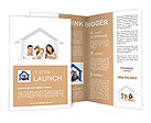 Happy family in a house. Isolated over a white backgroun Brochure Templates