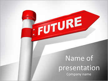 """Future"" concept on a road sign. 3d render PowerPoint Template"
