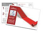 The success ladder. 3d illustration Postcard Template