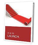 The success ladder. 3d illustration Presentation Folder
