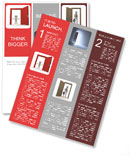 3d people - man, person and a open door. Businessman. Welcome Newsletter Templates