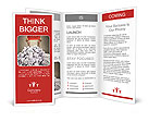 Hands with red frame reaches out from big heap of crumpled papers Brochure Template