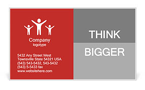 Hands with red frame reaches out from big heap of crumpled papers Business Card Template
