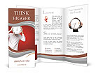 Young Man Holding Big Clock Covering His Face On Red Background Brochure Templates