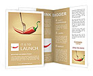 Red hot chili pepper pinned on a fork Brochure Templates