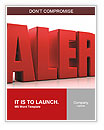 3D Alert text on white background Word Templates