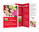 Image of funny kids playing on the grass Brochure Templates