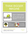 Measuring tape wrapped around a green apple as a symbol of diet. Poster Template