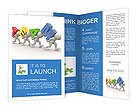 """3d people - men, person with word """"team"""". Concept of teamwork Brochure Templates"""