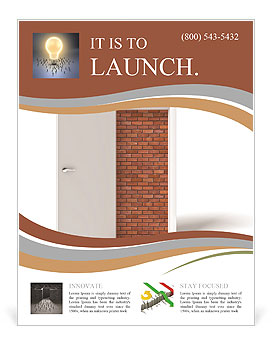 3d image of white door and brick wall Flyer Template  sc 1 st  SmileTemplates.com & 3d image of white door and brick wall Flyer Template \u0026 Design ID ...