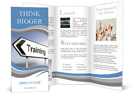 Illustration Depicting A Sign Post With Directional Arrow - Training brochure template