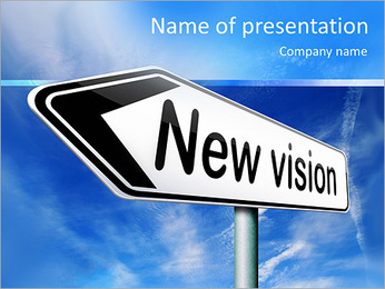 New vision innovation and brigth new brilliant idea or invention other point of view PowerPoint Template