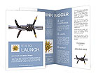 Barbed fountain pen Brochure Templates