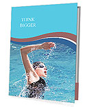 Swimmer breathing performing the crawl stroke Presentation Folder