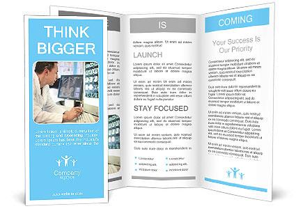 doctor looking at ct scan brochure template design id. Black Bedroom Furniture Sets. Home Design Ideas