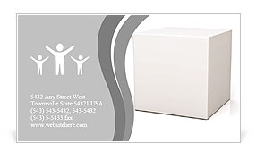 Blank box on white background with reflection Business Card Template