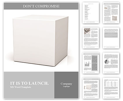 blank box on white background with reflection word template design