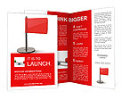 Red flag isolated on white background. high resolution 3d illustration Brochure Templates