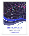 Blue background with stock chart 3D Ad Template
