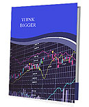 Blue background with stock chart 3D Presentation Folder
