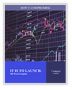 Blue background with stock chart 3D Word Templates