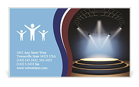Empty stage. Business Card Templates