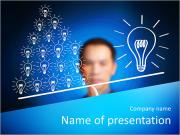 Concept of many small ideas are more important than one big idea . Express by balance weight on busi PowerPoint Templates
