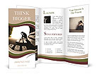 Depression, teen depression, pain, suffering, tunnel Brochure Templates