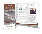 Career opportunity concept illustration with a business woman Brochure Templates