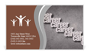Career opportunity concept illustration with a business woman Business Card Template