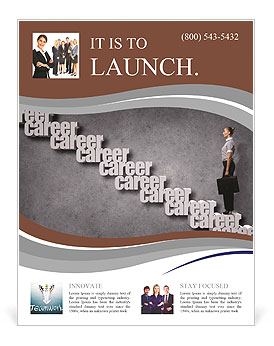 Career opportunity concept illustration with a business woman flyer career opportunity concept illustration with a business woman flyer template maxwellsz