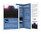 Spot lighting over dark background and wood floor Brochure Templates