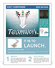 Teamwork concept, group of people with the same goal Flyer Templates