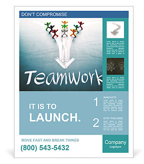 Teamwork concept, group of people with the same goal Poster Template ...