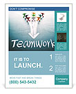 Teamwork concept, group of people with the same goal Poster Template