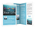 Take control of your life concept, colorful words on blackboard Brochure Templates