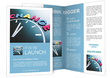 how to get a brochure template on microsoft word - time to change concept color word and clock on blackboard