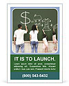 Family drawing money house clothes and video game symbol on the chalkboard Ad Templates