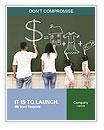 Family drawing money house clothes and video game symbol on the chalkboard Word Templates