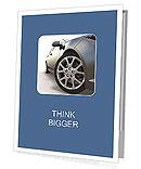 Sport car isolated on white Presentation Folder