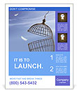 Freedom concept. Escaping from the cage Poster Templates