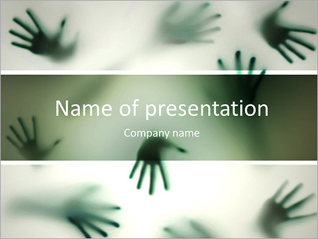 Horror powerpoint template smiletemplates frightening silhouette of many different hands powerpoint templates toneelgroepblik Choice Image