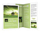 Green landscape Brochure Templates
