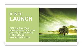 Green landscape Business Card Template